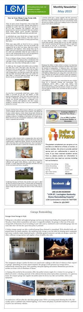 May 2015 LCM Newsletter